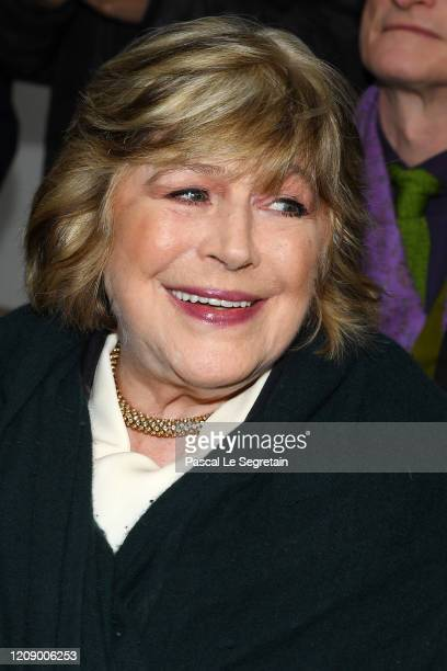 Marianne Faithfull attends the Chloe show as part of the Paris Fashion Week Womenswear Fall/Winter 2020/2021 on February 27 2020 in Paris France