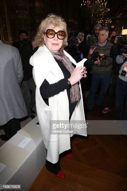 Marianne Faithfull attends the Stella McCartney Fall/Winter 2013 ReadytoWear show as part of Paris Fashion Week on March 4 2013 in Paris France