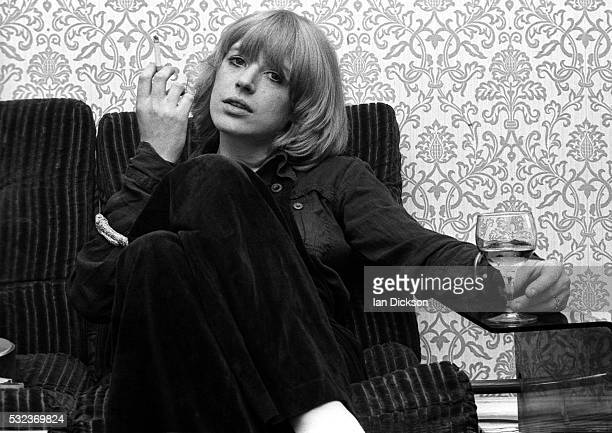 Marianne Faithfull being interviewed London United Kingdom 1975