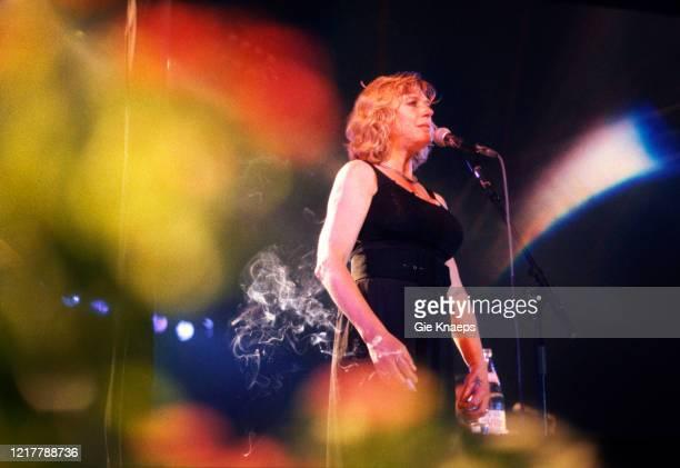 Marianne Faithfull, Folk Dranouter Festival, Dranouter, Belgium, 9th August 1982.