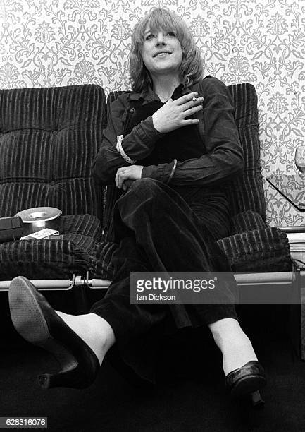 Marianne Faithfull is interviewed in London in 1975