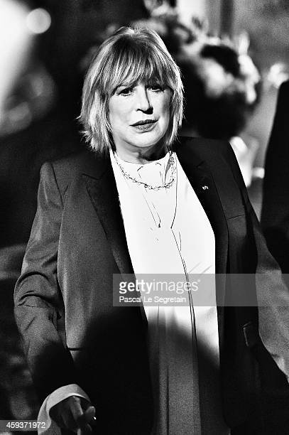 Marianne Faithfull is seen backstage prior her performance at L'Olympia on November 20 2014 in Paris France