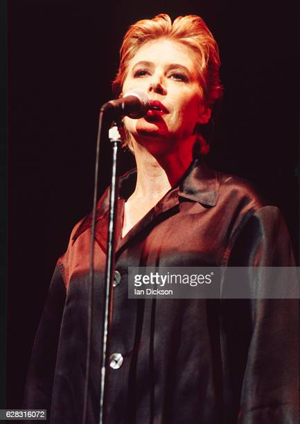 Marianne Faithfull performing on stage at Dominion Theatre London 15 May 1990
