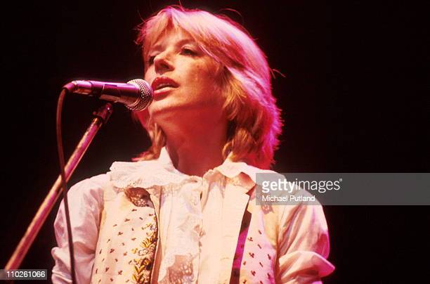 Marianne Faithfull performs on stage Dominion Theatre London 8th June 1982