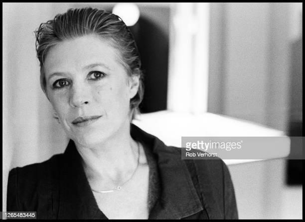 Marianne Faithfull, portrait, Americain Hotel, Amsterdam, Netherlands, 13th May 1990.