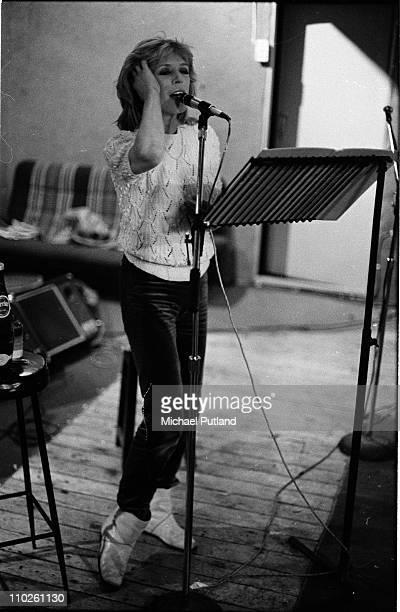 Marianne Faithfull, portrait, London, June 1982