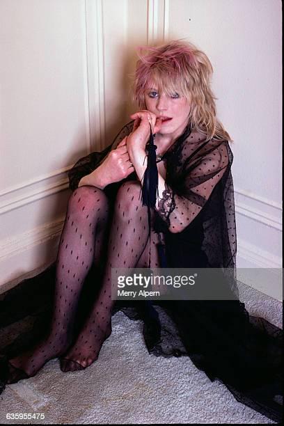 Marianne Faithfull Sitting in Corner