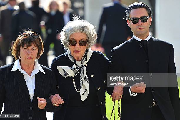 Marianne Fuerstin zu SaynWittgensteinSayn attend Gunter Sachs' funeral service held at Mauritiuskirche on May 13 2011 in Saanen Switzerland Gunter...