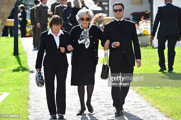 Marianne Fuerstin zu SaynWittgensteinSayn attends Gunter Sachs' funeral service held at Mauritiuskirche on May 13 2011 in Saanen Switzerland Gunter...