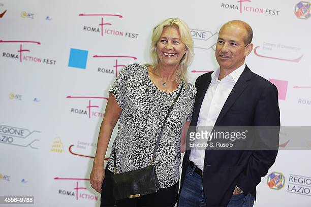 Marianne Gray and Howard Gordon attend the 'Panel Political Drama' photocall at Auditorium Parco Della Musica on September 18, 2014 in Rome, Italy.