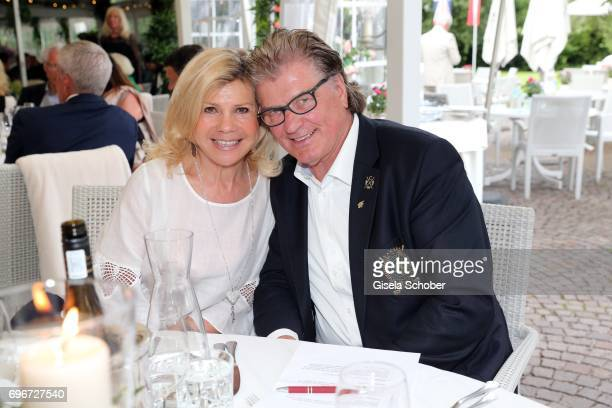 Marianne Hartl and her husband Michael Hartl during the 2nd I'm Living Charity Golf Cup at Golfclub Beuerberg on June 16 2017 in Penzberg Germany The...