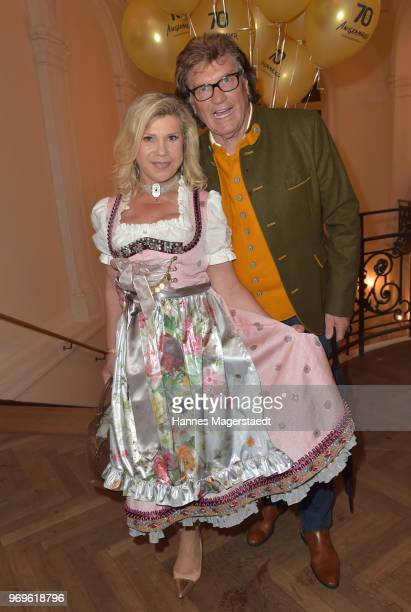 Marianne Hartl and her husband Michael Hartl during the 70th anniversary celebration of the clothing company Angermaier at Deutsches Theatre on June...