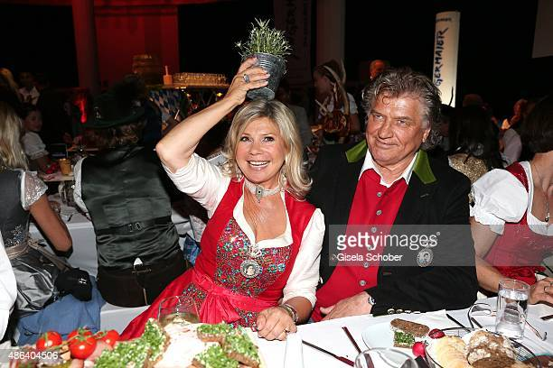 Marianne Hartl and her husband Michael Hartl during the Angermaier TrachtenNacht 2015 at Postpalast in Munich on September 3 2015 in Munich Germany