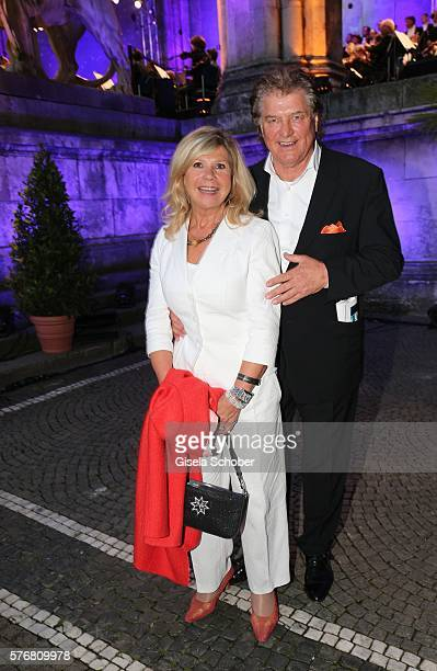 Marianne Hartl and her husband Michael Hartl during the Mercedes-Benz reception at 'Klassik am Odeonsplatz' 2016 on July 17, 2016 in Munich, Germany.