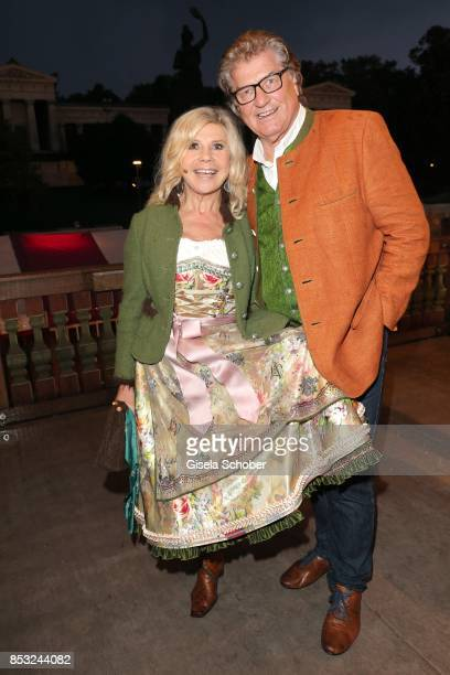 Marianne Hartl and her husband Michael Hartl during the Oktoberfest at Kaefer tent Theresienwiese on September 24 2017 in Munich Germany
