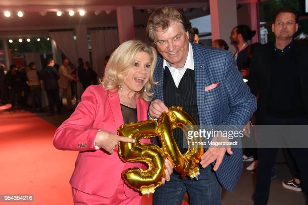 Marianne Hartl and Michael Hartl attend the BILD Muenchen Newspaper 50th anniversary party at MTTC IPHITOS on May 3 2018 in Munich Germany