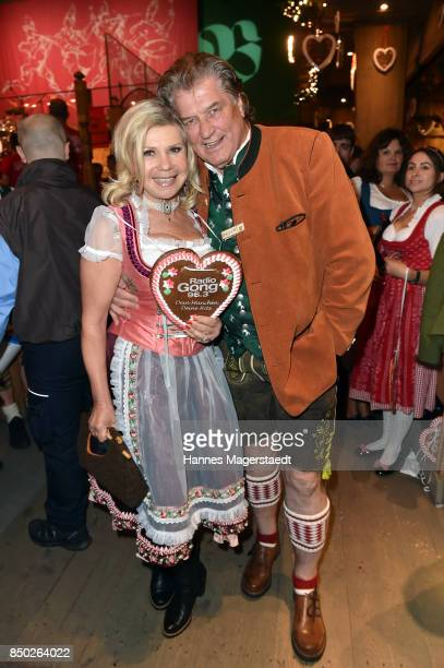 Marianne Hartl and Michael Hartl attend the Radio Gong 963 Wiesn during the Oktoberfest 2017 on September 20 2017 in Munich Germany