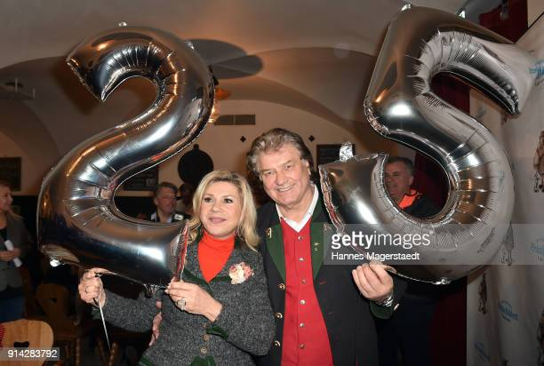 Marianne Hartl and Michael Hartl during the Eagles New Year's Reception on February 4 2018 in RottachEgern Germany