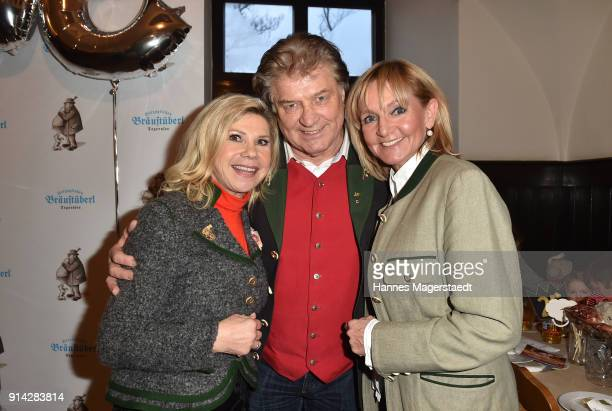Marianne Hartl Michael Hartl and Christa Kinshofer during the Eagles New Year's Reception on February 4 2018 in RottachEgern Germany