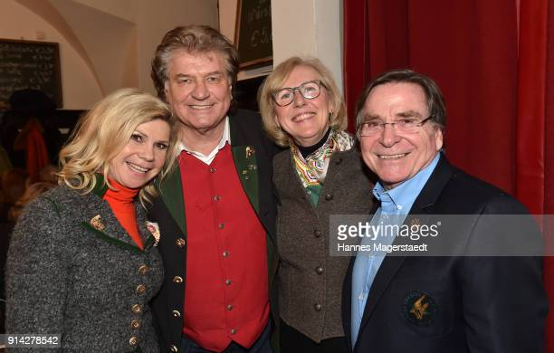 Marianne Hartl Michael Hartl Anita Wepper and Elmar Wepper during the Eagles New Year's Reception on February 4 2018 in RottachEgern Germany