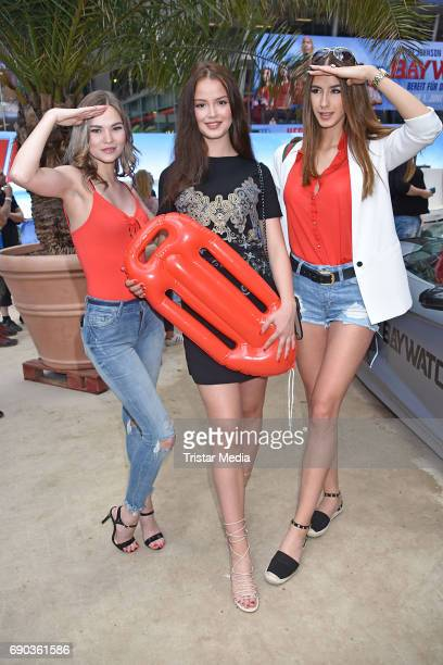 Marianne Herbig Soraya Eckes and Brenda Huebscher during the Baywatch European Premiere Party on May 31 2017 in Berlin Germany