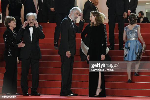 "Marianne Hoepfner, Jean-Louis Trintignant, Isabelle Huppart and director Michael Haneke attend the ""Happy End"" screening during the 70th annual..."