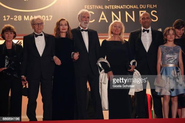 Marianne Hoepfner JeanLouis Trintignant Isabelle Huppert director Michael Haneke Susi Haneke Hassam Ghancy Fantine Harduin and Laura Verlinden attend...
