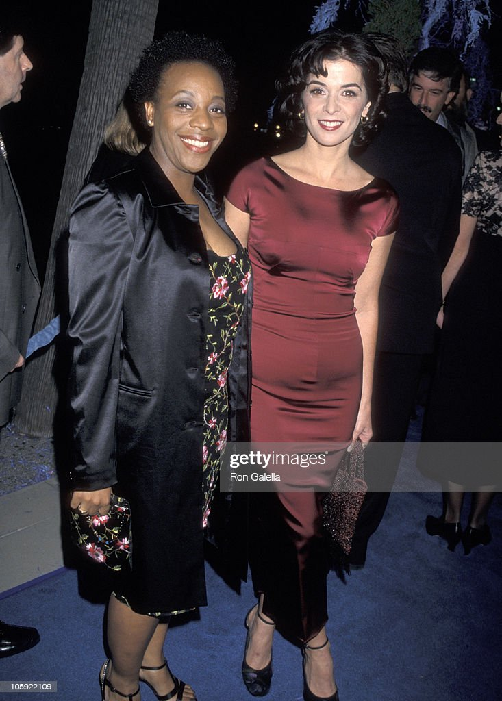 Marianne Jean-Baptiste and Annabella Sciorra during 'What Dreams May Come' Los Angeles Premiere in Beverly Hills, California, United States.