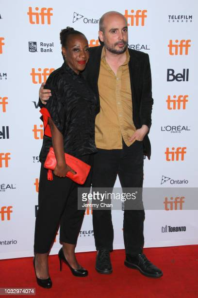 Marianne JeanBaptiste and Peter Strickland attend the 'In Fabric' premiere during 2018 Toronto International Film Festival at Ryerson Theatre on...