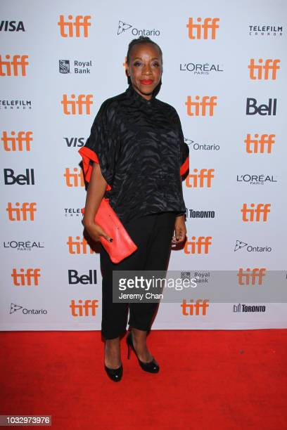 Marianne JeanBaptiste attends the In Fabric premiere during 2018 Toronto International Film Festival at Ryerson Theatre on September 13 2018 in...
