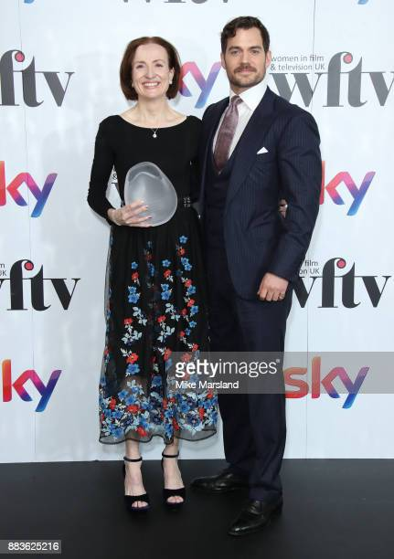 Marianne Jenkins and Henry Cavill attend the 'Sky Women In Film and TV Awards' held at London Hilton on December 1 2017 in London England