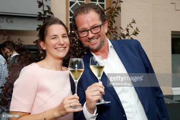 Marianne Klein and JensPeter Gardthausen attend the 'Krug Kiosk' Event on July 11 2017 in Hamburg Germany