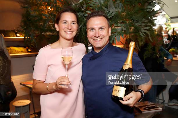 Marianne Klein and Tim Raue attend the 'Krug Kiosk' Event on July 11 2017 in Hamburg Germany