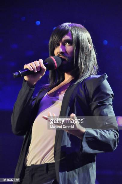 Marianne Mendt performs on stage during the 'Best of Austria meets Classic' Concert at Wiener Stadthalle on June 21 2018 in Vienna Austria On the...