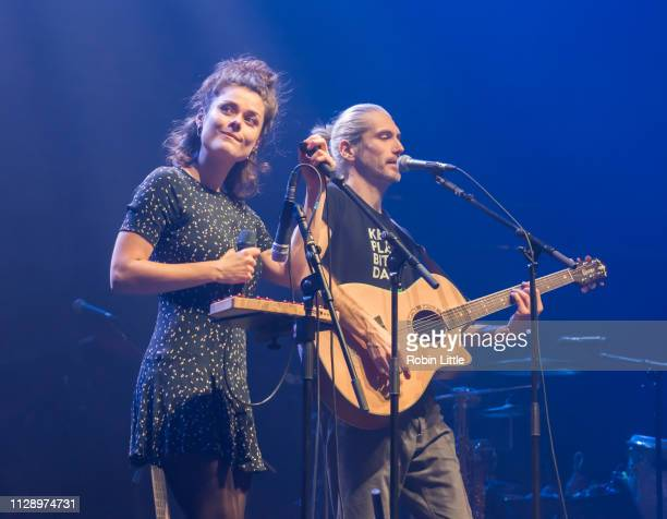 Marianne Neumann and Rocco Horn of Berge perform at The Royal Albert Hall on March 6 2019 in London England