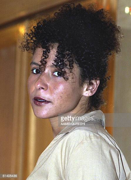Marianne Pearl is seen at a hotel in Karachi, 06 February 2002, as she waits for the release of her husband, Wall Street Journal correspondent Daniel...