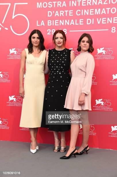 Marianne Rendón Hannah Murray and Sosie Bacon attend 'Charlie Says' photocall during the 75th Venice Film Festival at Sala Casino on September 2 2018...