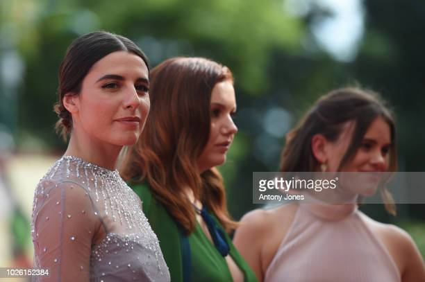 Marianne Rendon Hannah Murray and Sosie Bacon of the cast of 'Charlie Says' walks the red carpet ahead of the 'My Brilliant Friend ' screening during...