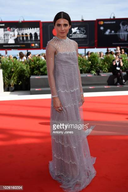 Marianne Rendon of the cast of 'Charlie Says' walks the red carpet ahead of the 'My Brilliant Friend ' screening during the 75th Venice Film Festival...