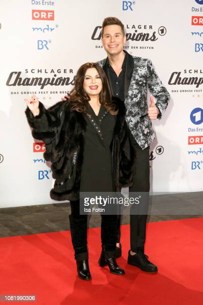 Marianne Rosenberg and Eloy de Jong during the television show 'Schlagerchampions Das grosse Fest der Besten' at Velodrom on January 12 2019 in...