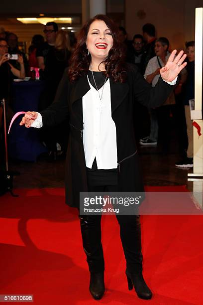 Marianne Rosenberg attends the TV show 'Willkommen bei Carmen Nebel' on March 19 2016 in Magdeburg Germany