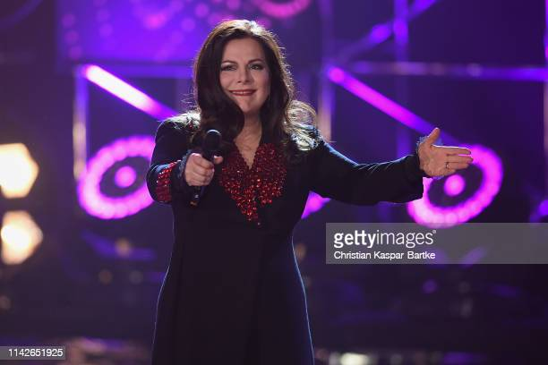 Marianne Rosenberg performs on stage during the taping of the show 50 Jahre Hitparade on April 12 2019 in Offenburg Germany The show will air on ZDF...