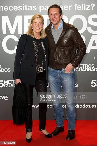 Marianne Sandberg and Joaquin Prat attend Cinco Metros Cuadrados premiere at Callao cinema on November 10 2011 in Madrid Spain