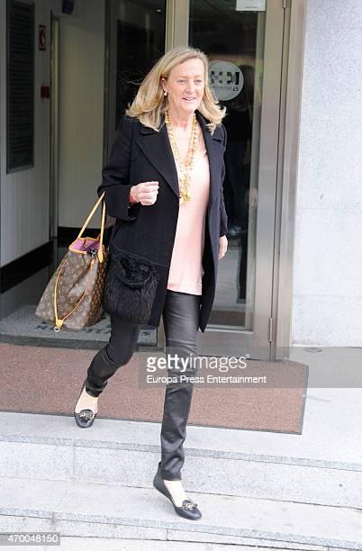 Marianne Sandberg visits their granndson Joaquin Prat on April 16 2015 in Madrid Spain