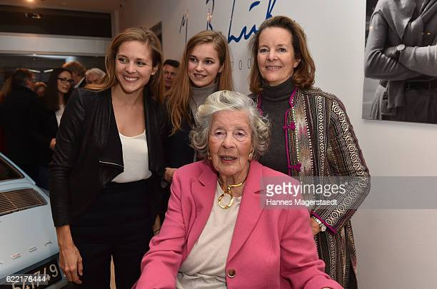 Marianne SaynWittgensteinSayn and her daughter Teresa von Kageneck with her daughters Laura and Helena during the presentation of Marianne...