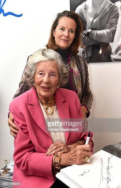 Marianne SaynWittgensteinSayn and her daughter Teresa von Kageneck during the presentation of Marianne SaynWittgensteinSayn photo collection at Jan B...