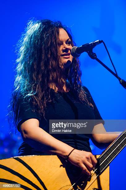 Marianne Sveen of Katzenjammer performs on stage at Paard on November 21 2015 in The Hague Netherlands