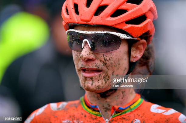 Marianne Vos of Netherlands and Team CCC - Liv / Mud / during the 11th Namur World Cup 2019, Women Elite / @UCI_CX / #TelenetUCICXWC / on December...