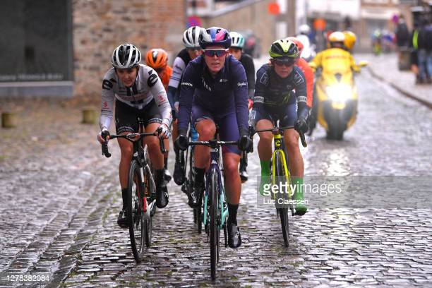 Marianne Vos of The Netherlands and Team CCC - Liv / Ellen Van Dijk of The Netherlands and Team Trek- Segafredo / Hannah Barnes of The United Kingdom...