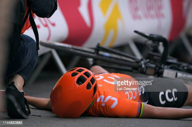 Marianne Vos of The Netherlands and Team CCC-Liv / Crash / Injury /during the 22nd La Fleche Wallonne 2019, Women Elite a 118,5km race from Huy to...